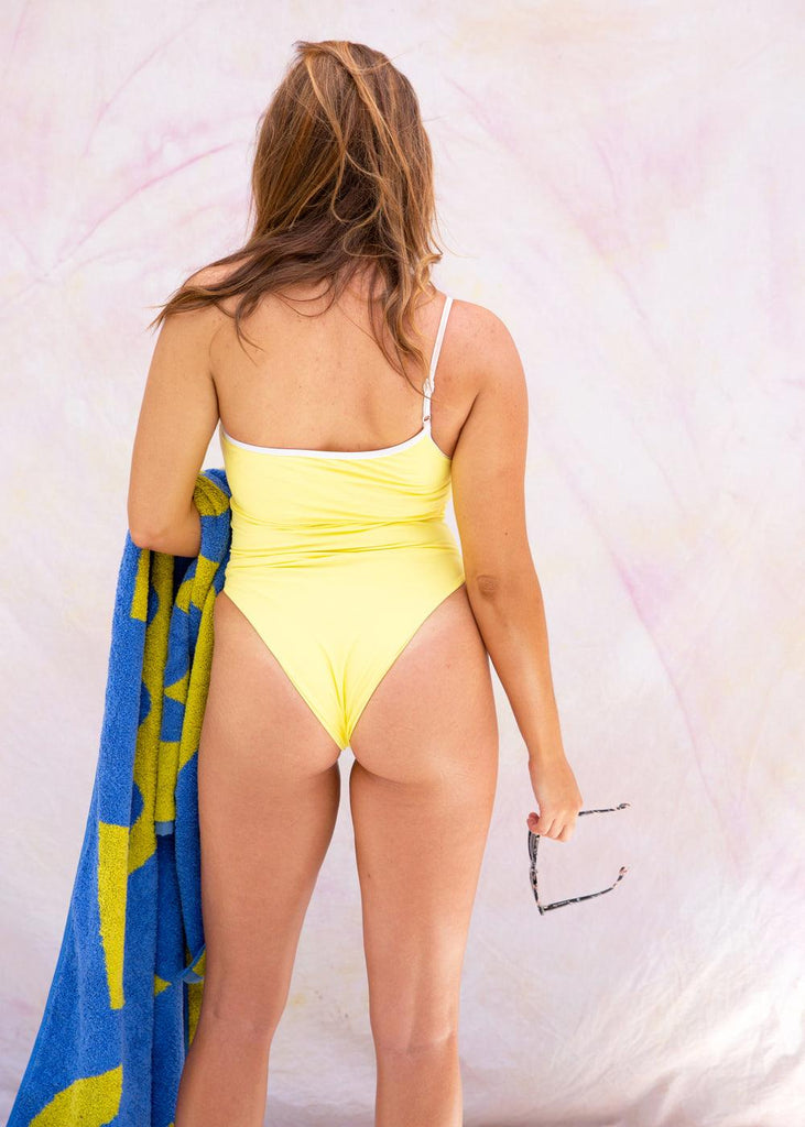 Newport Swimsuit - Lemon - cara cara