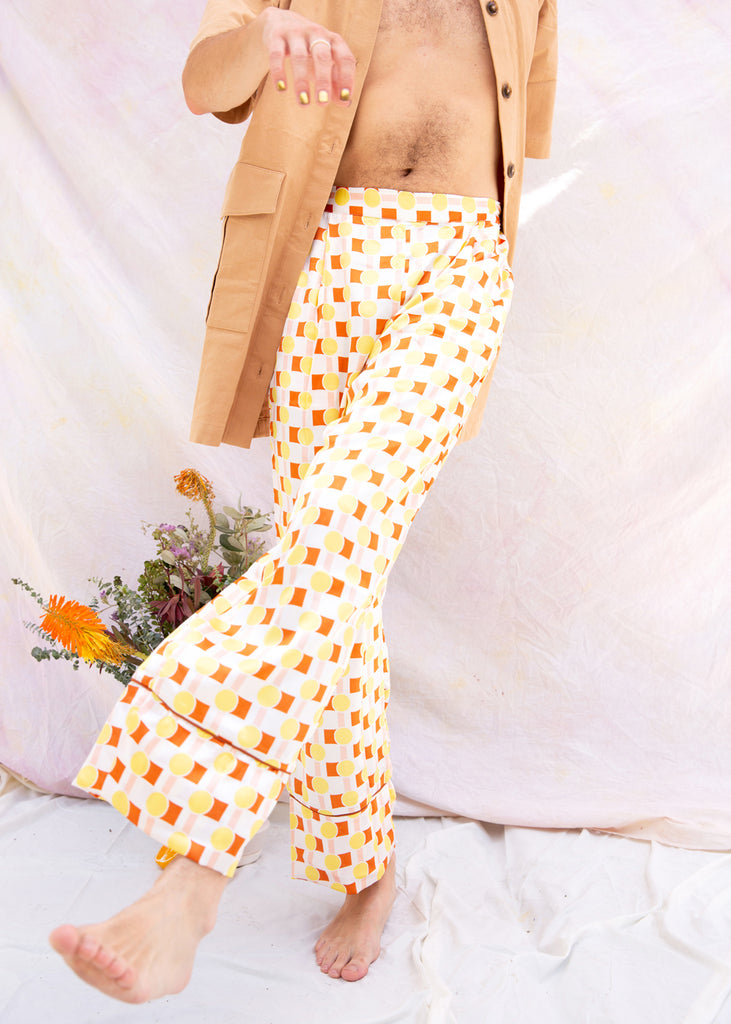 Retro Print Trousers