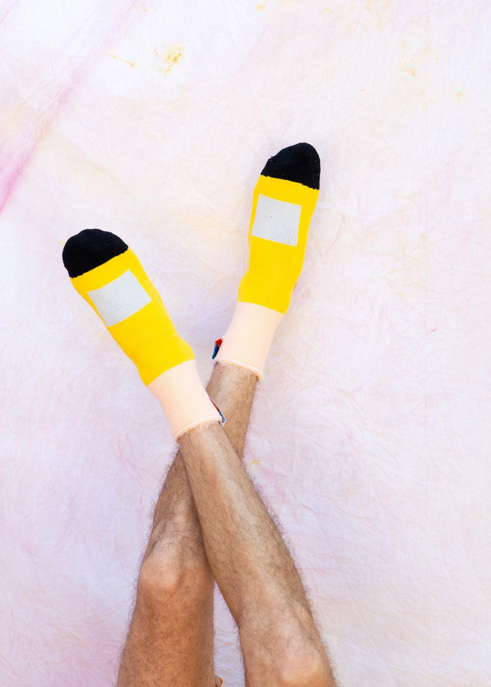 Big Wet West Socks - Yellow - cara cara