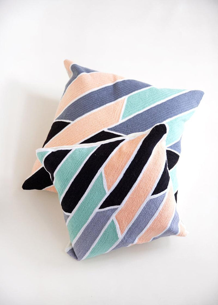 "18"" Neon Slice Pillow - cara cara"