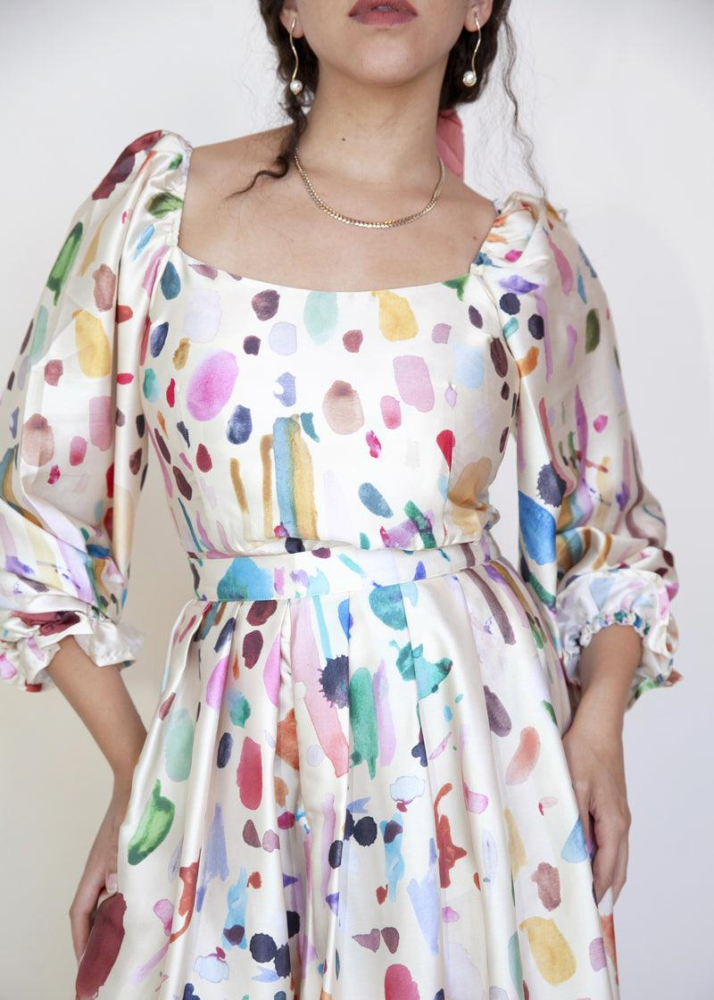 Quest Blouse - Water Color - cara cara