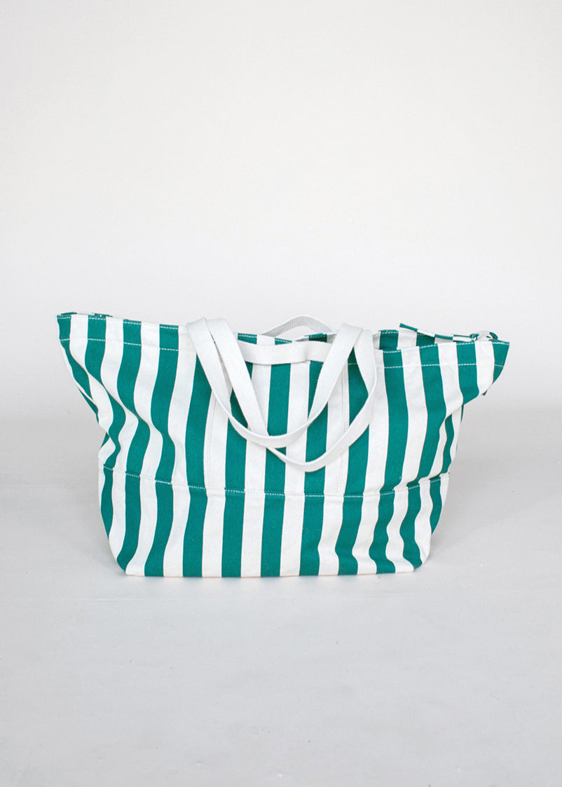 Weekend Bag - Palm Stripe - cara cara