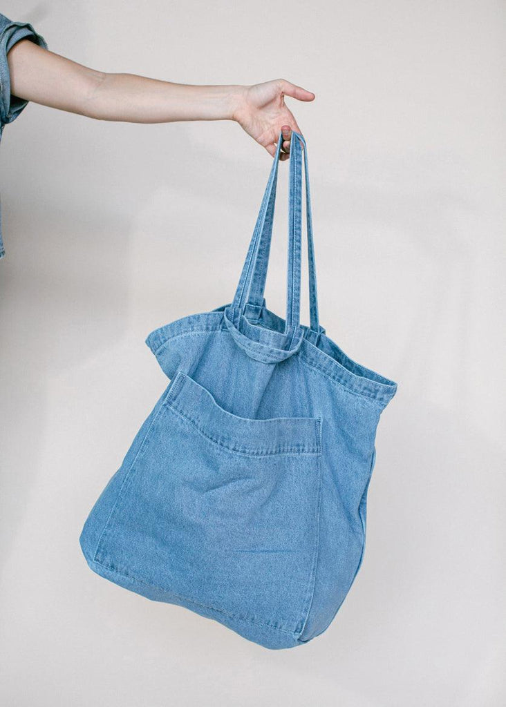 Giant Pocket Tote - Denim - cara cara