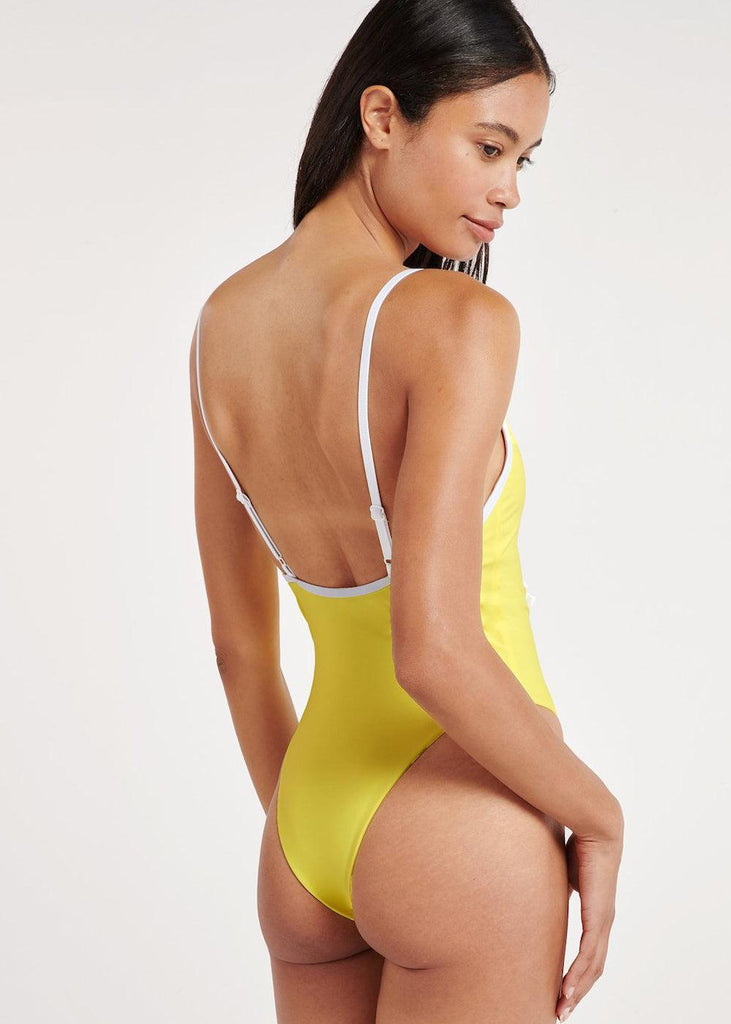 Key Biscane Swimsuit - Lemon - cara cara