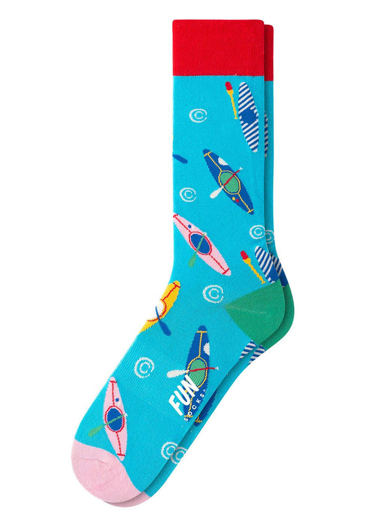 Men's Crew Socks - Blue Kayak - cara cara