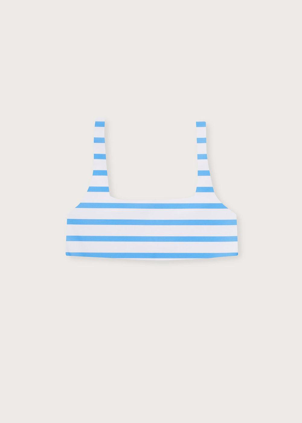 Oslo Swim Top - Ocean Stripe - cara cara