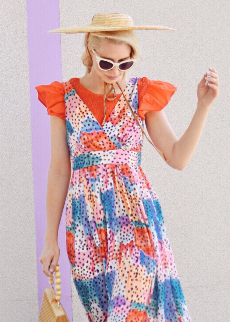 Maxi Dress - Watercolor Dot
