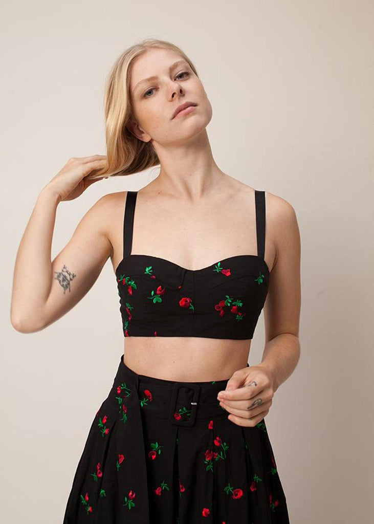 Karen Bra Top - Black Rose - cara cara