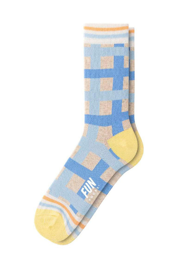 Crew Socks - Plaid - cara cara