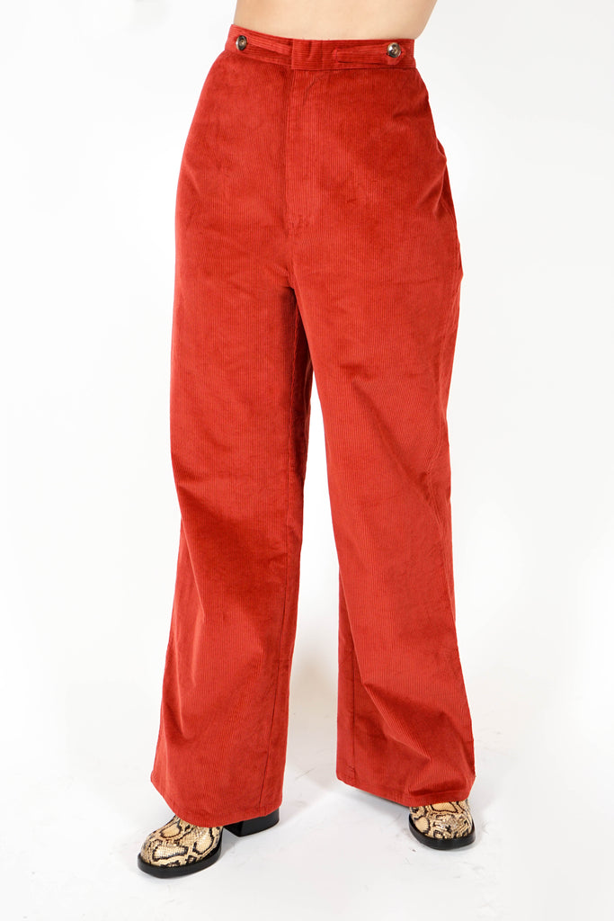 Spencer Pant - Rust Stretch Cord