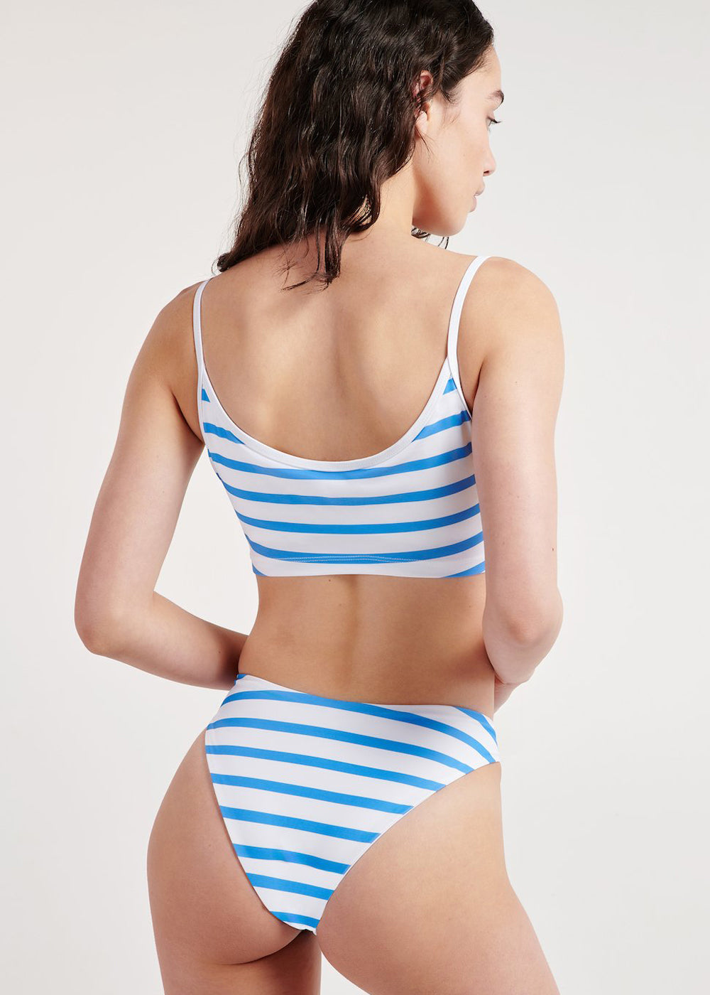 Seattle Swim Top - Ocean Stripe - cara cara