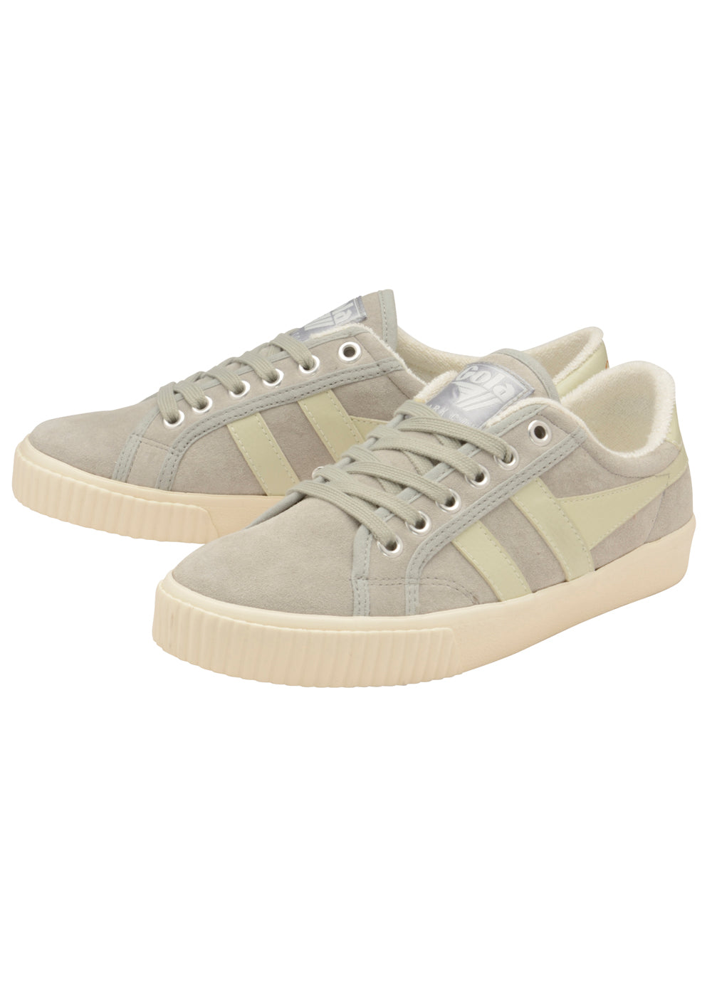 Tennis Mark Suede - Light Grey/Off White - cara cara