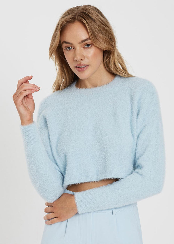 Halo Shag Knit - Soft Sky