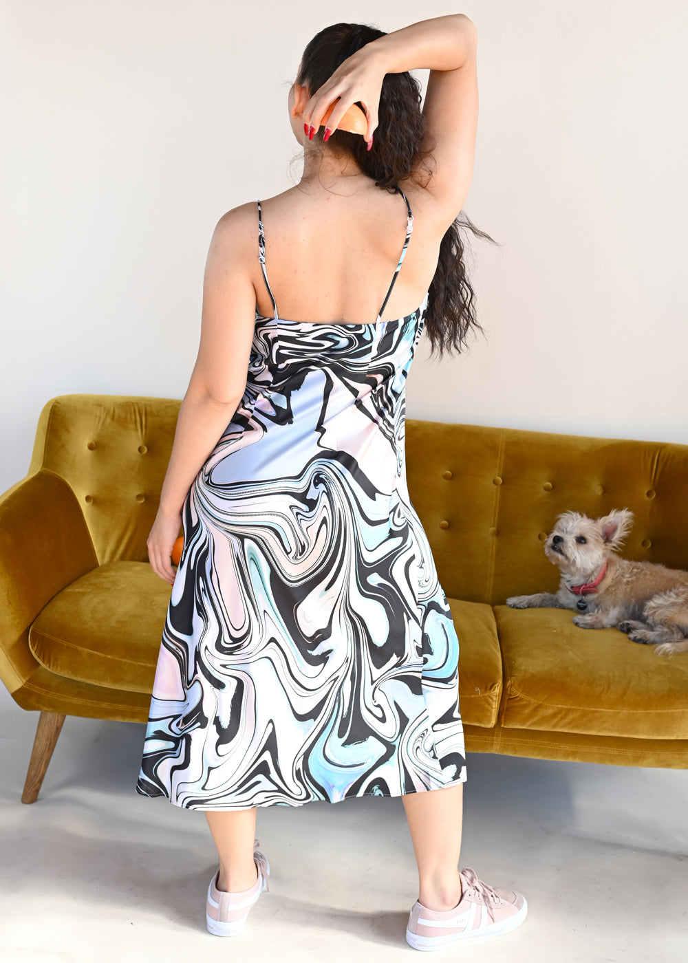 Sound Dress - Black Swirl