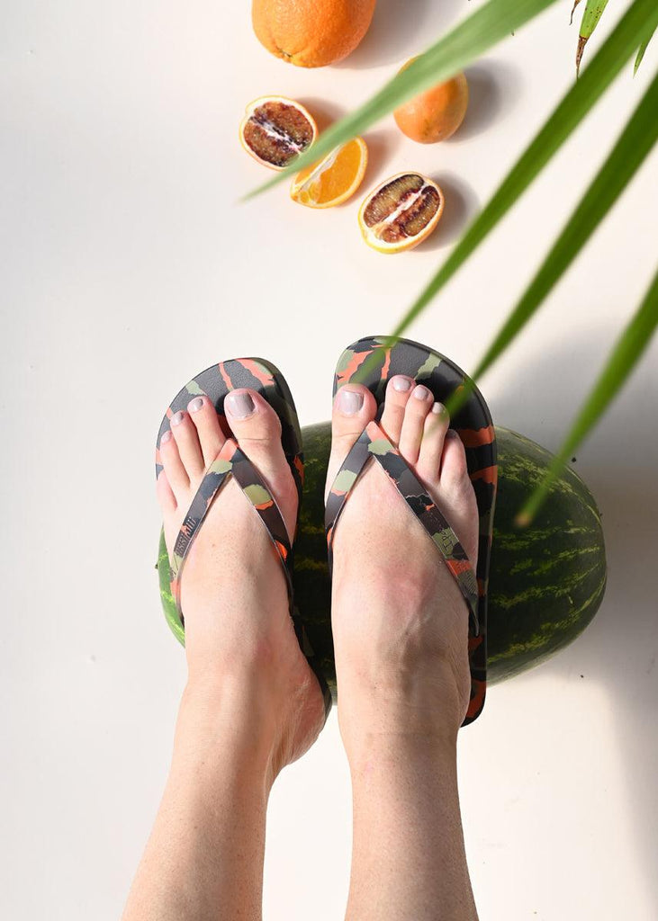 Ipanema Flip Flops - Green/Brown