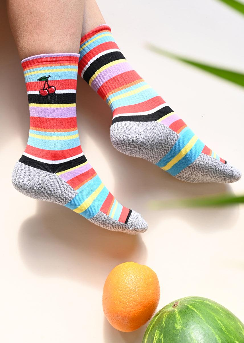 Athletic Socks - Cherries