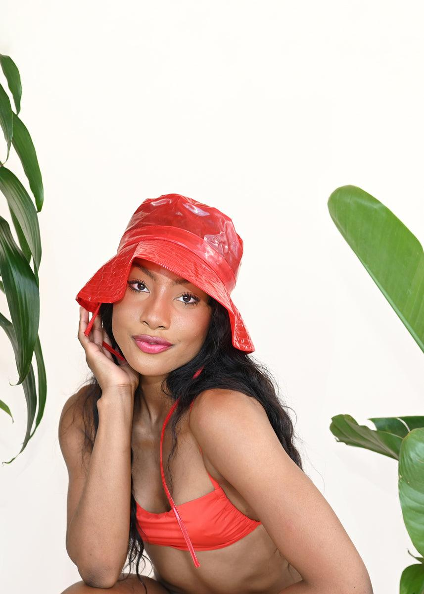 Boonie Hat - Glossy Red