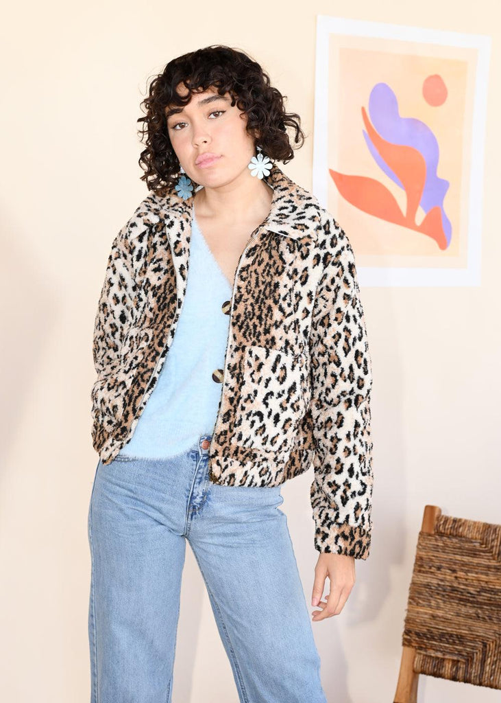 Noelle Jacket - Cheetah