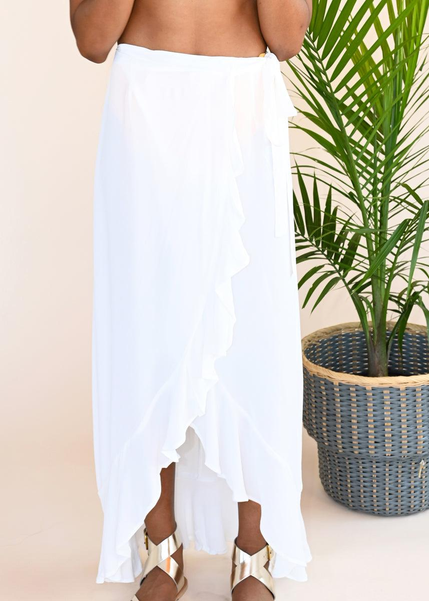 Mia Maxi Skirt - White
