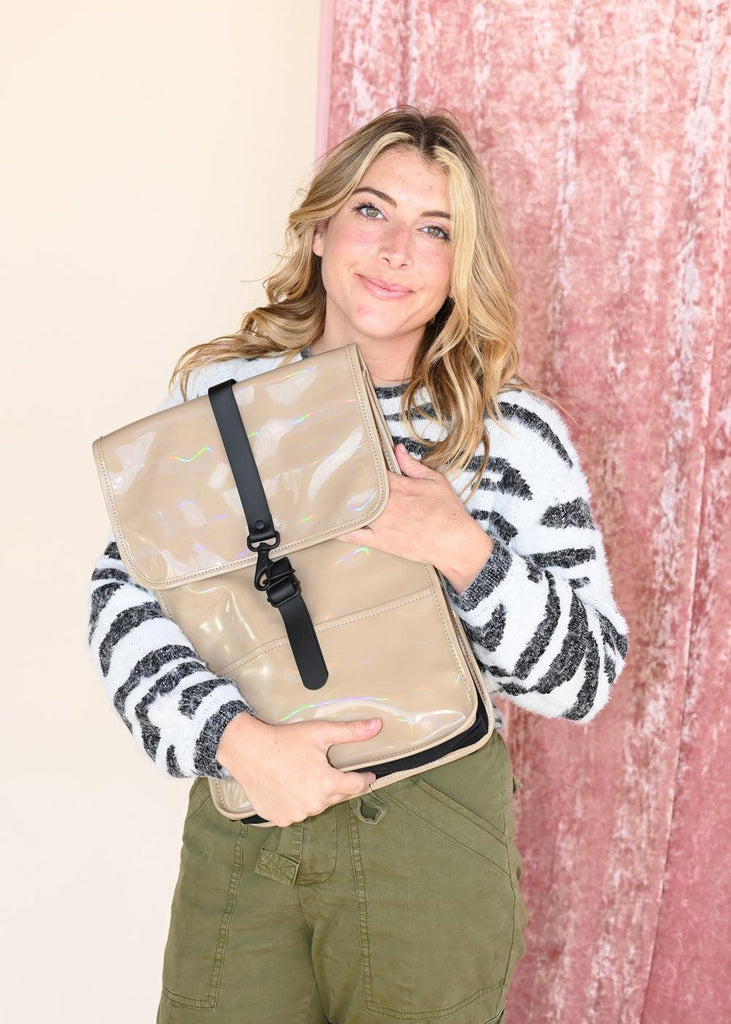 Backpack Mini - Holographic Beige