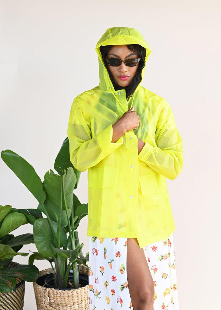 LTD Short Hooded Coat - Foggy Neon Yellow