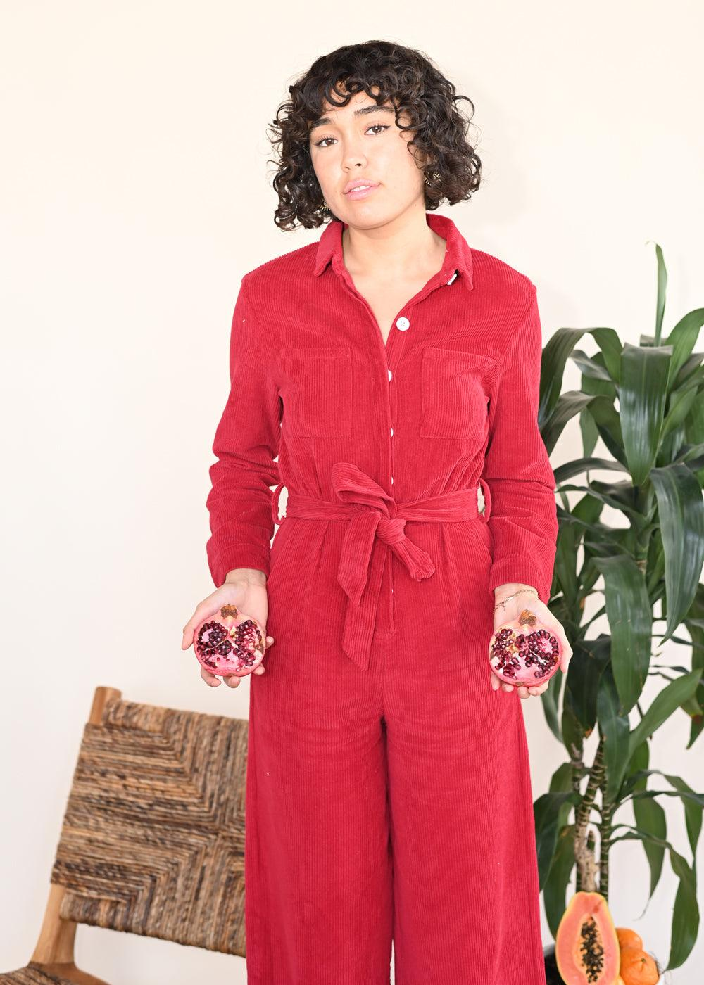 Ha Long Jumpsuit - Red