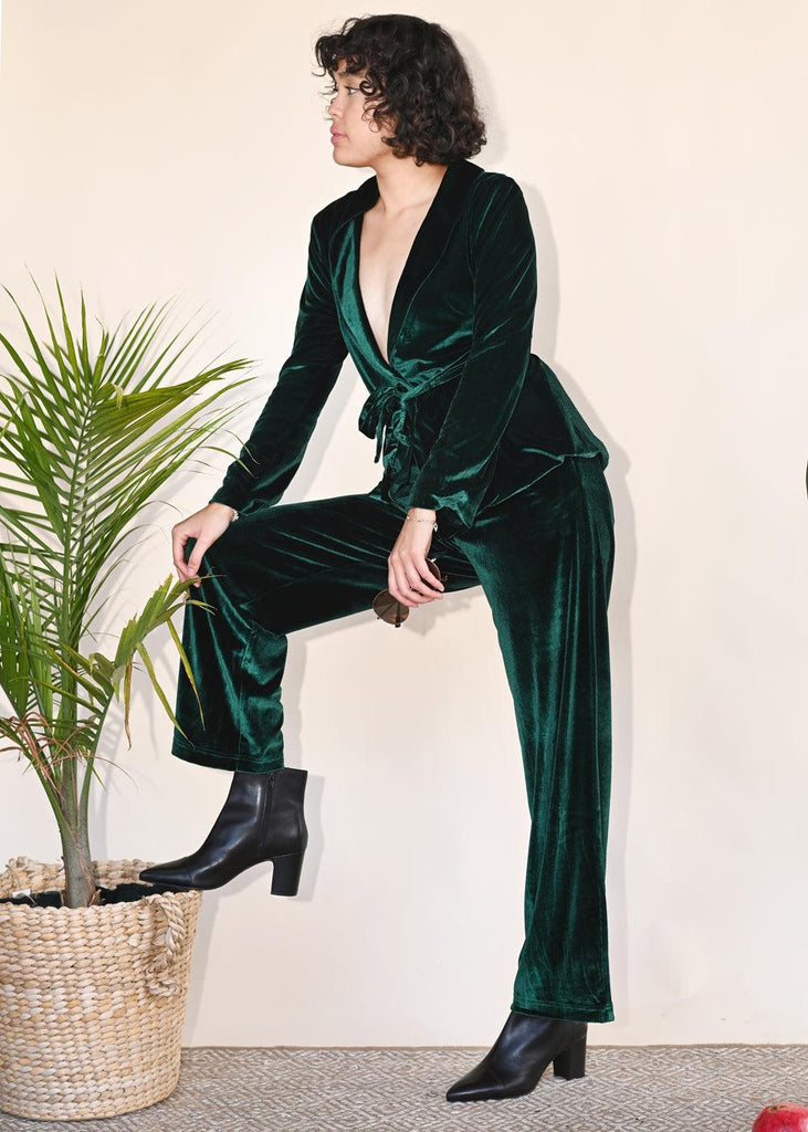 Quest Wide Leg Pant - Emerald
