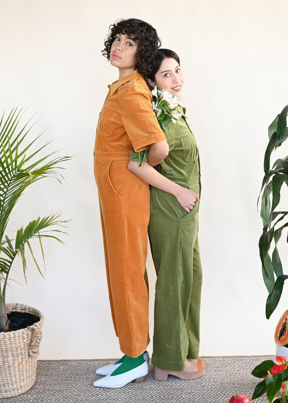Marrs Cord Jumpsuit - Green