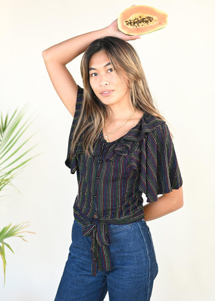 Kathleen Rainbow Stripe Top