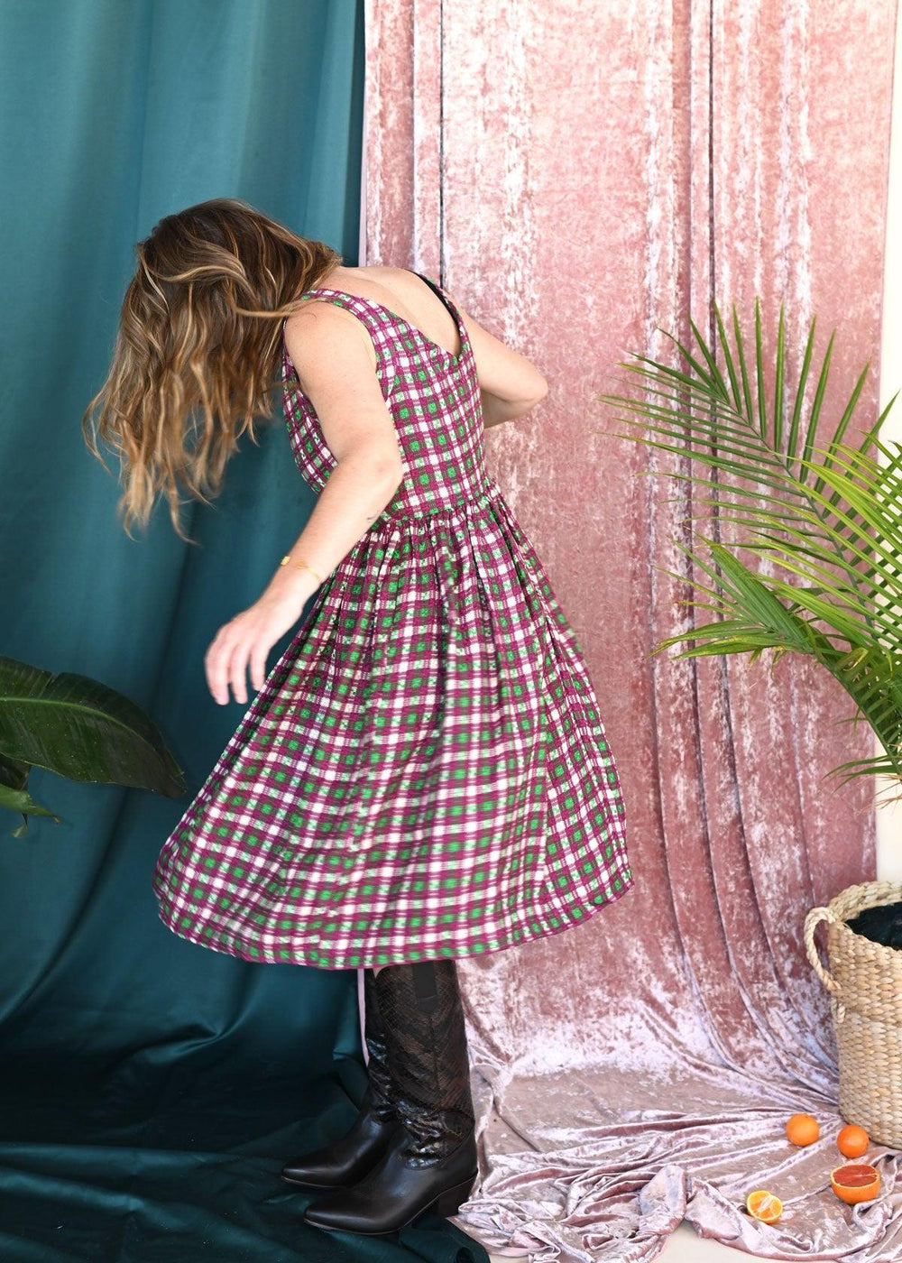 Ivy Dress - Chenille Woven Plaid
