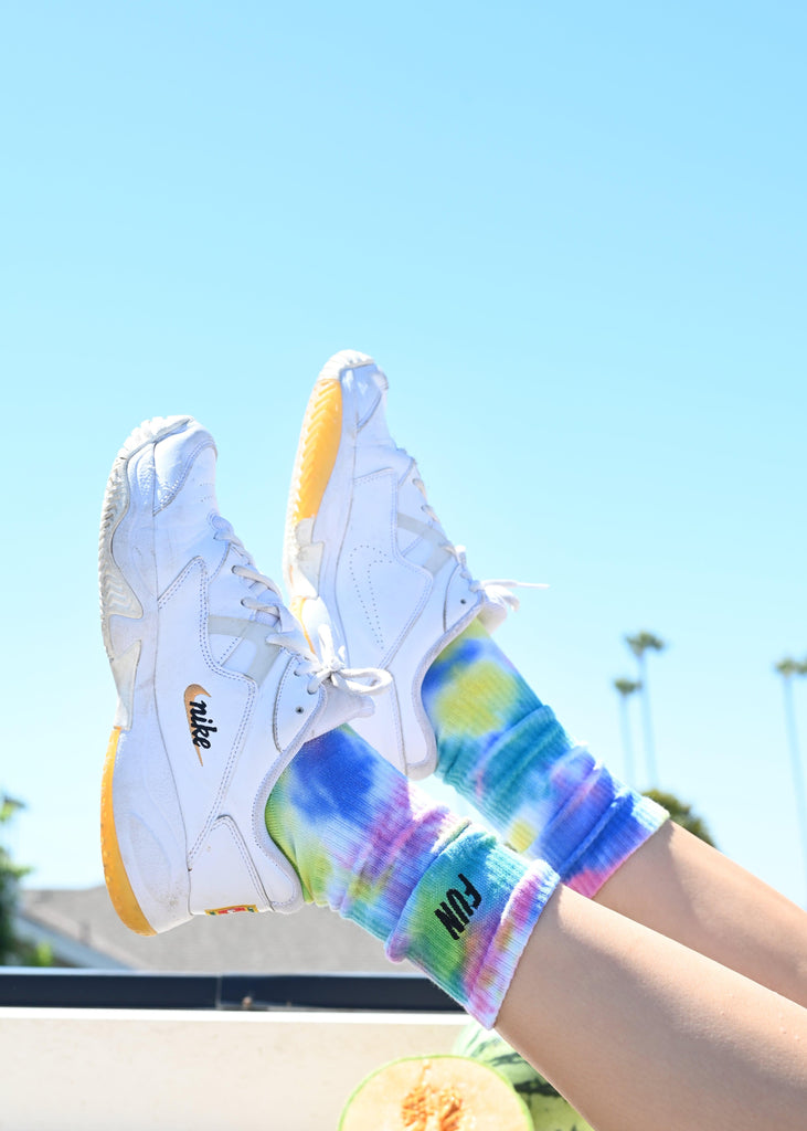 Men's Crew Socks - Multi Tie Dye