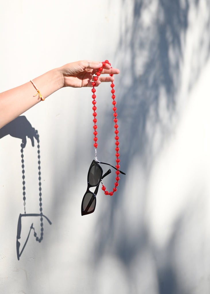 Sunglass Chain - Cherry - cara cara