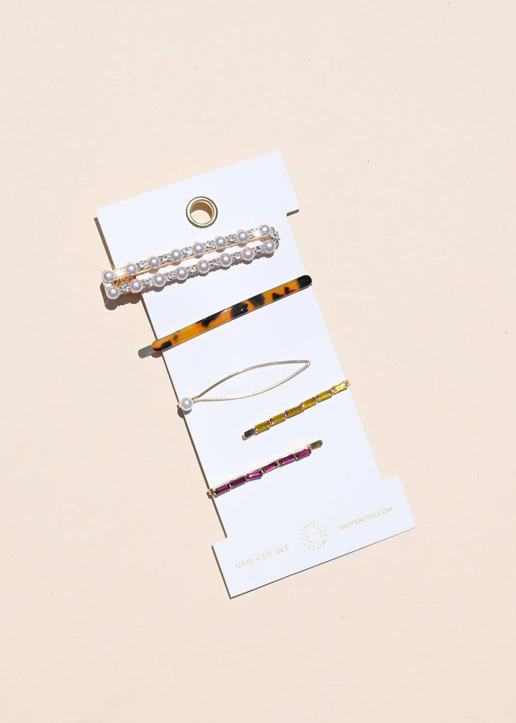 Fancy Barrette Set - Mix - cara cara