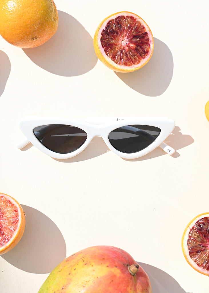 The Last Lolita Sunglasses - White - cara cara