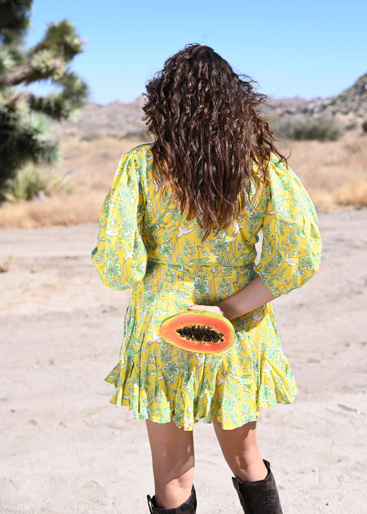 Rosie Dress - Yellow Eden