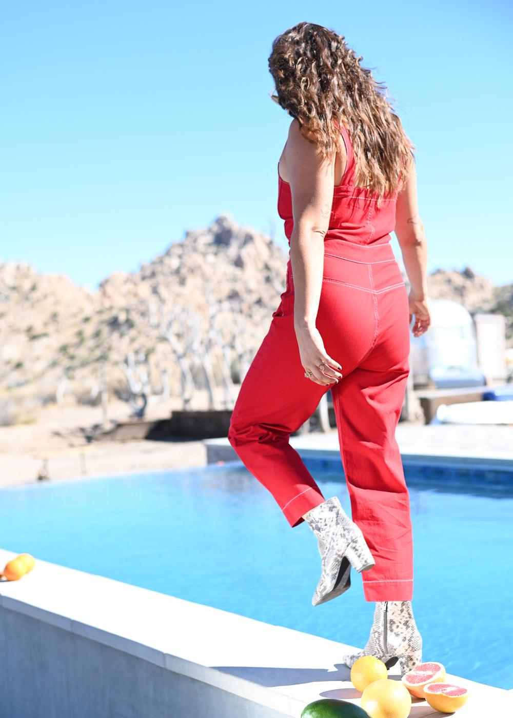 Lexi Jumpsuit - Red Riot
