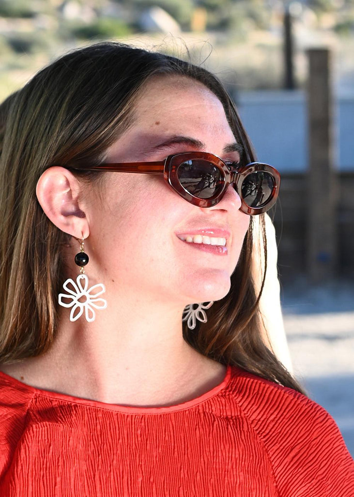 Cut Out Daisy Earrings