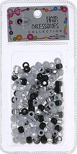 Tara Hair Beads Black/White