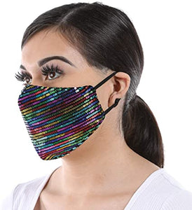 Design Mask- Sequence Face Mask