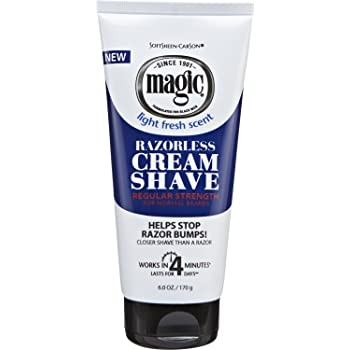 Softsheen Carson Magic- Razorless Cream Shave Regular Strength 6 oz