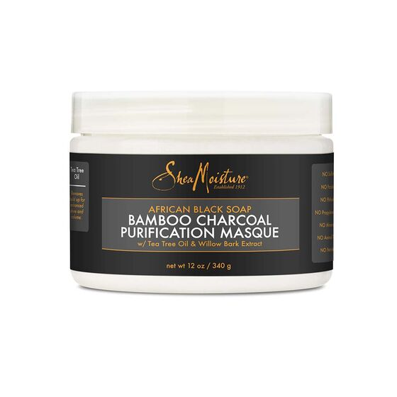 Shea Moisture African Black Soap- Bamboo Charcoal Purification Masque 12oz