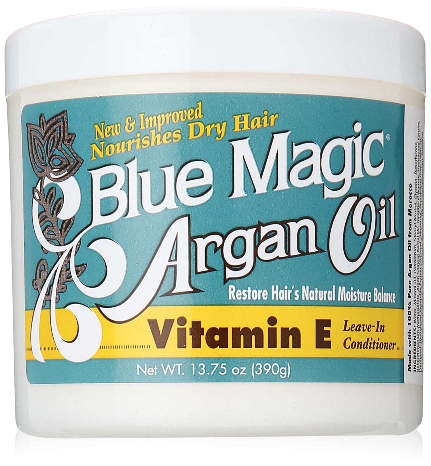 Blue Magic Argan Oil Leave In Conditioner- Vitamin E 13.75 oz