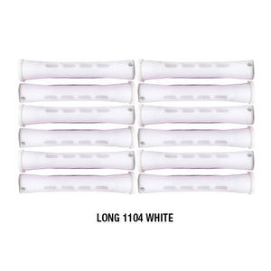 Annie Cold Wave Rods #1104 Long White 12CT