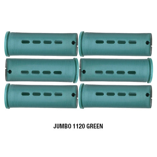 Annie Cold Wave Rods #1120 Jumbo Green 6CT