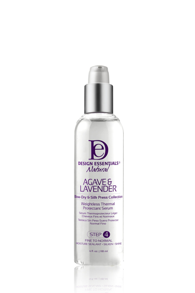 Design Essentials Agave & Lavender- Weightless Thermal Protectant Serum (Step 4) 4 oz