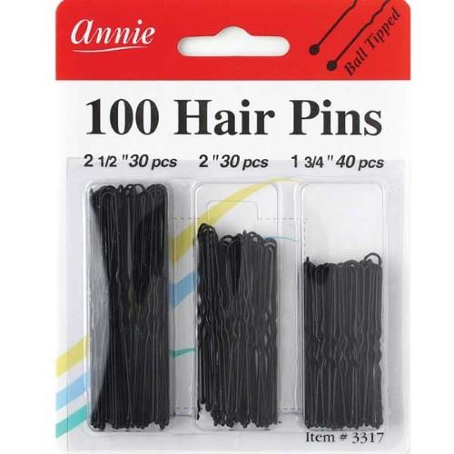 Annie- Crimped Hair Pins Multi-pack 100ct