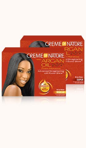 Creme of Nature with Argan Oil From Morocco Advanced Straightening with Exotic Shine
