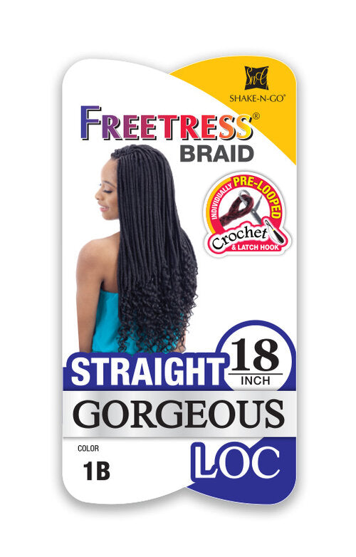 Freetress Braid- Straight Gorgeous(Goddess) Loc 18""