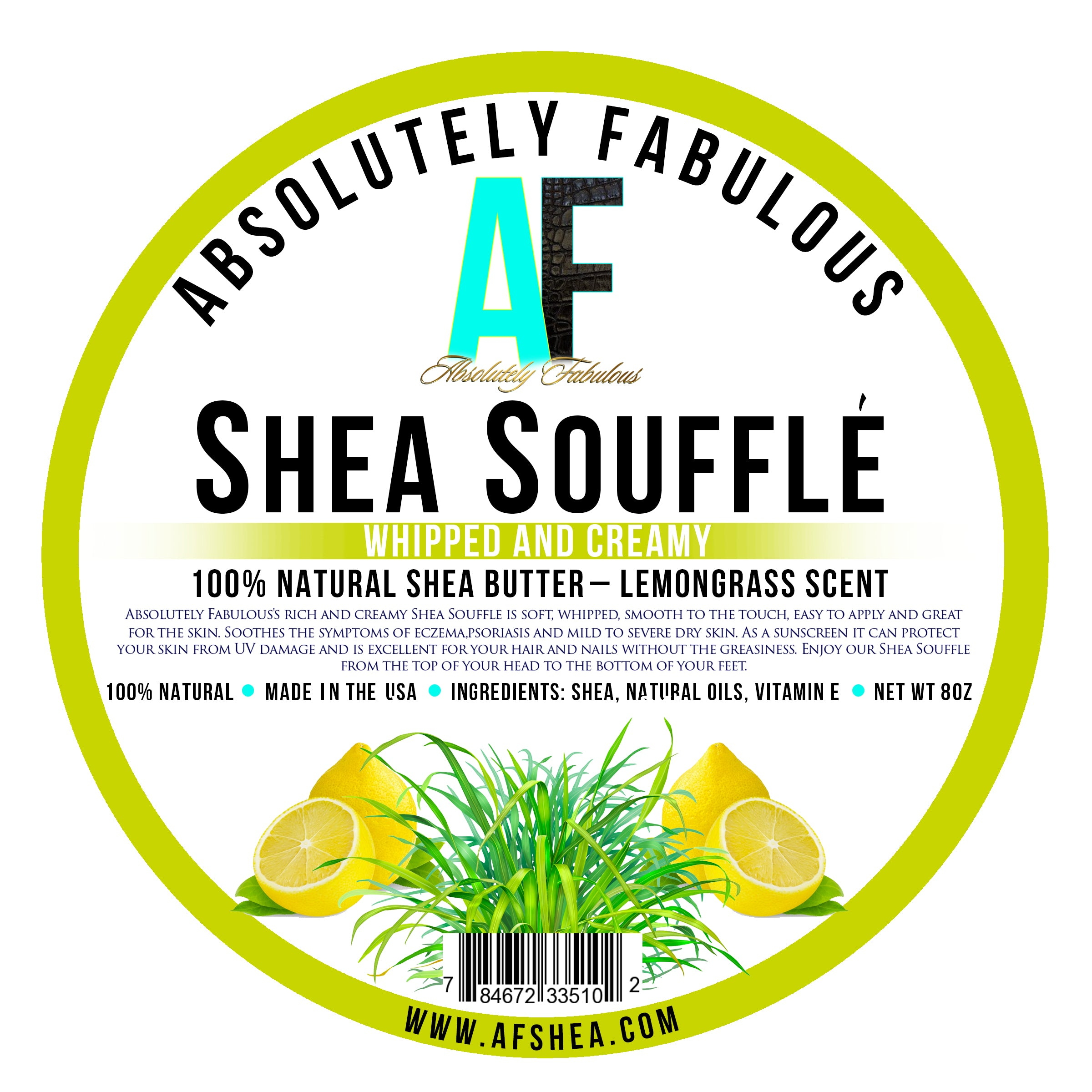 Absolutely Fabulous- Shea Souffle Whipped & Creamy Olive Oil 8oz