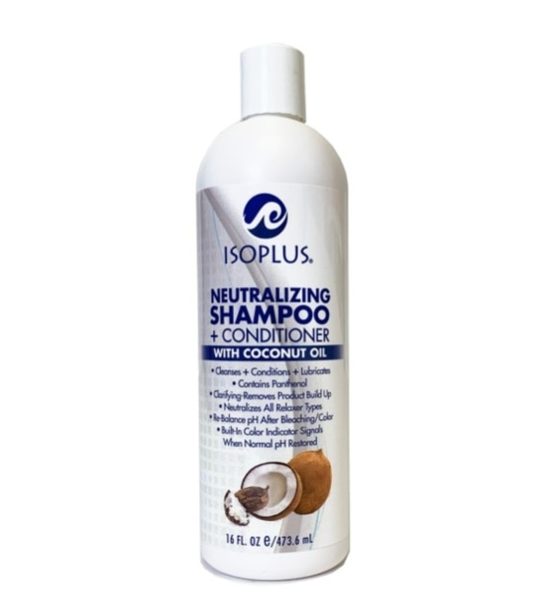 Isoplus-Neutralizing Shampoo + Conditioner with Coconut Oil 16oz